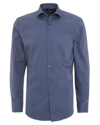 Mens Jerrin Shirt, Slim Fit Plain Grey Shirt