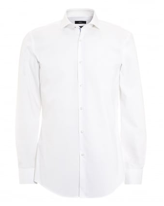 Mens Jerrin Shirt, Slim Fit Plain White Shirt