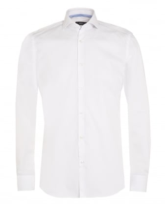 Mens Jery Shirt, Slim Fit White Business Shirt