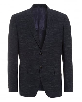 Mens Jestor Jacket, Slim Fit Navy Blue Blazer Jacket