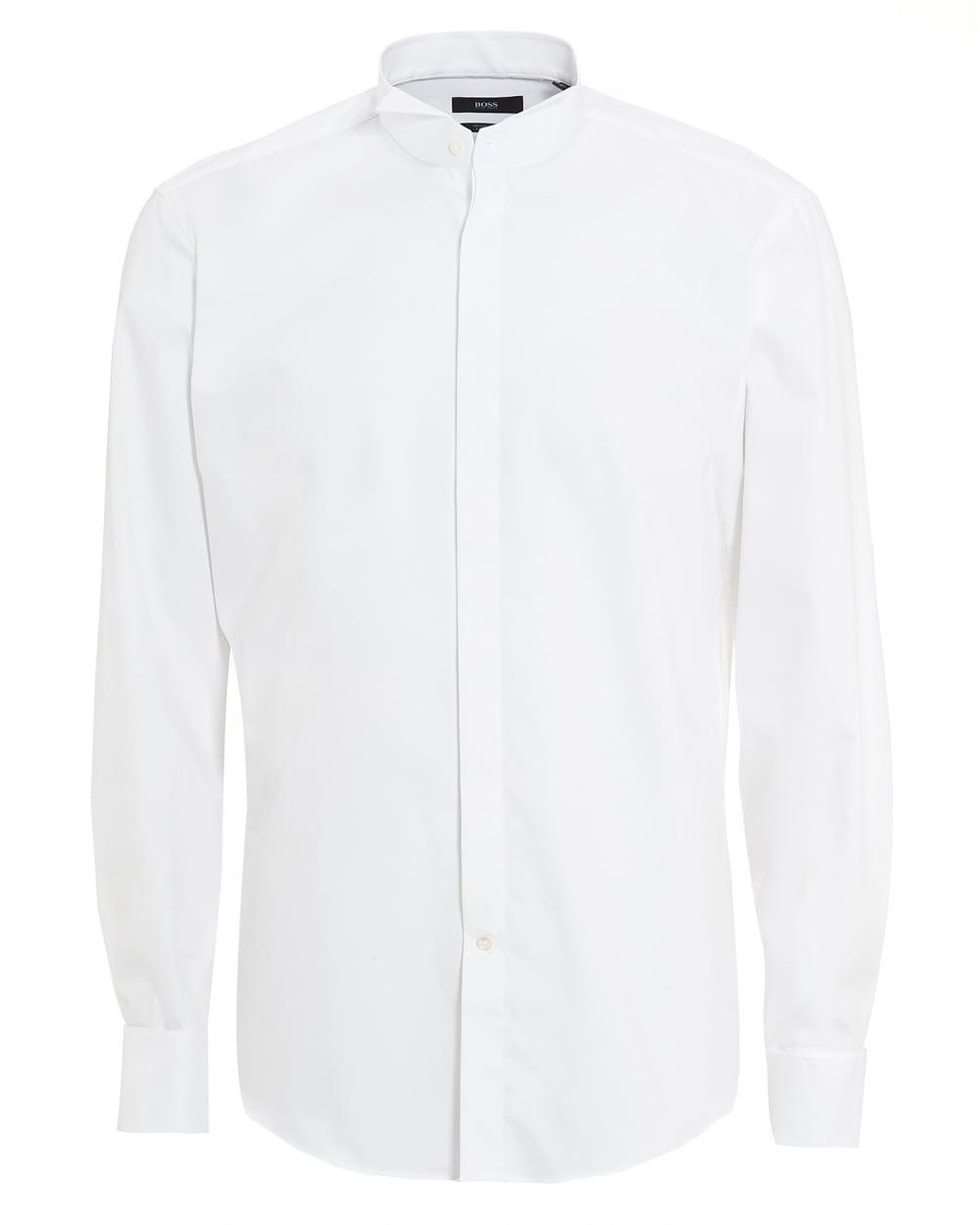 Hugo boss black mens jillik slim fit white dress shirt for Hugo boss formal shirts