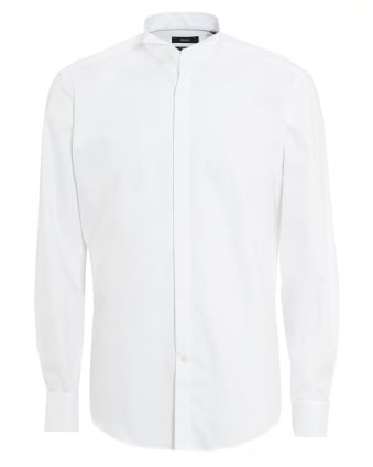 Mens Jillik Slim Fit White Dress Shirt
