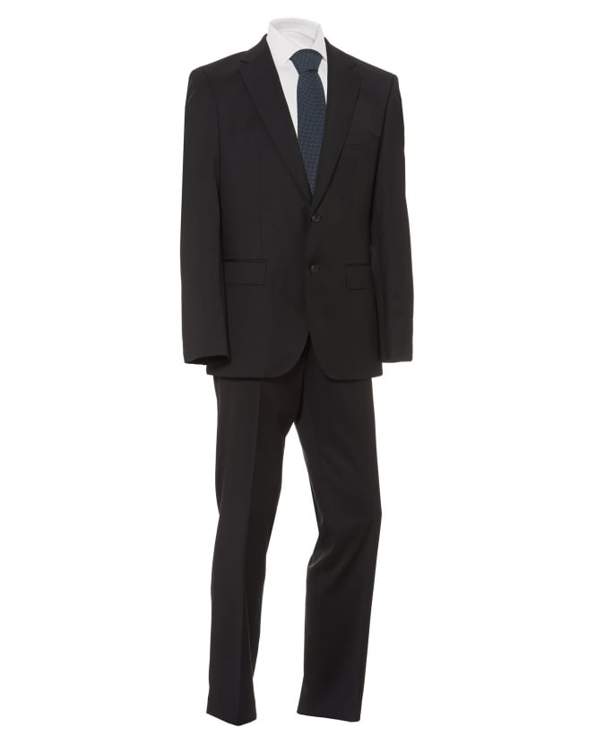BOSS Business Mens Johnston Lennon Suit, Regular Fit Black Suit