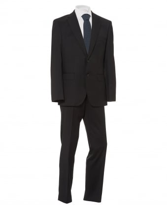 Mens Johnston Lennon Suit, Regular Fit Black Suit