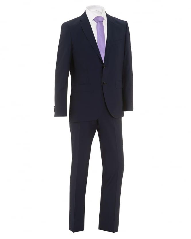 Hugo Boss Black Mens Johnstons Lenon Super 130 Wool Regular Fit Ink Suit