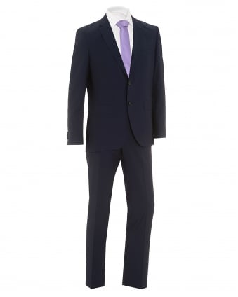 Mens Johnstons Lenon Super 130 Wool Regular Fit Ink Suit