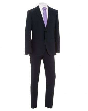 Mens Johnstons Lenon Textured Dark Navy Regular Fit Suit