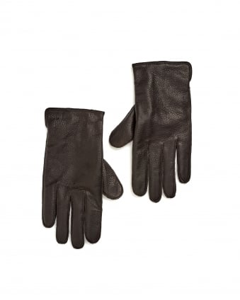 Mens Kranto3 Elastic Insert Brown Leather Gloves