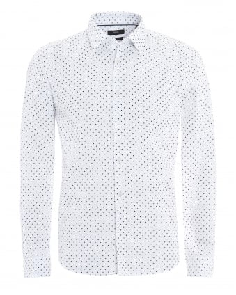 Mens Lance_F Shirt, Regular Fit White Dot Print Shirt