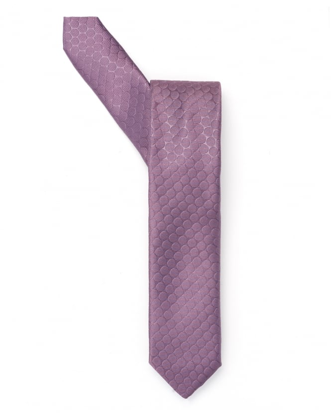 BOSS Business Mens Lilac Polka Dot Tie