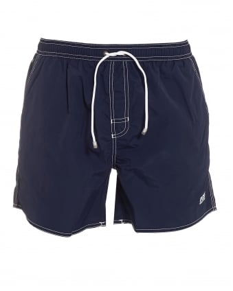 Mens Lobster Short Navy Blue Swim Shorts