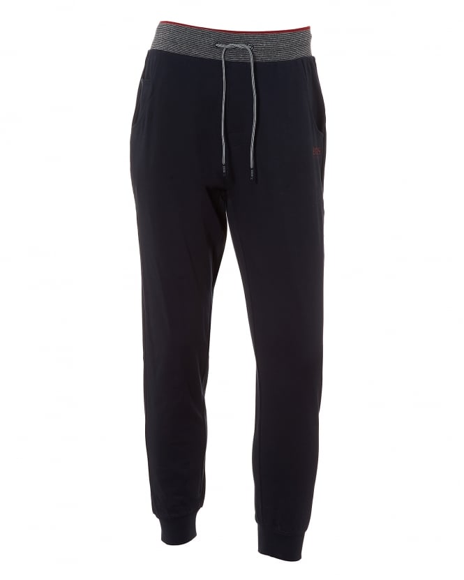 BOSS Business Mens Long Pant CW Cuffs Trackpants, Navy Blue Sweatpants