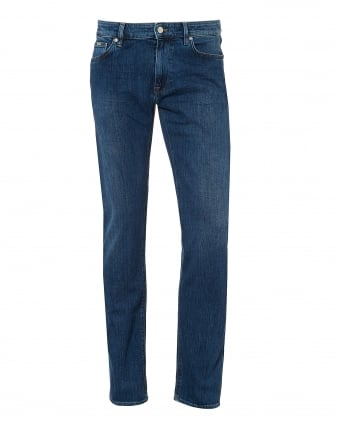 Mens Maine Hatch Jean, 5 Pocket Mid Light Denim