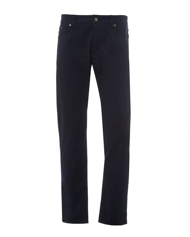 BOSS Business Mens Maine3 Jeans, Satin Cotton Regular Fit Navy Denim