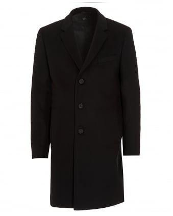 Mens Nye New-Wool Blend Black Crombie Coat