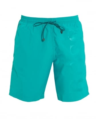 Mens Orca Aqua Blue Mid Length Swim Shorts