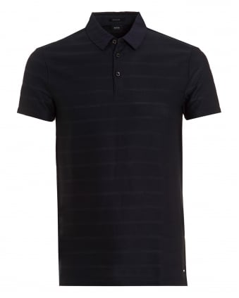 Mens Pack 08 Polo, Tonal Stripe Navy Blue Polo Shirt