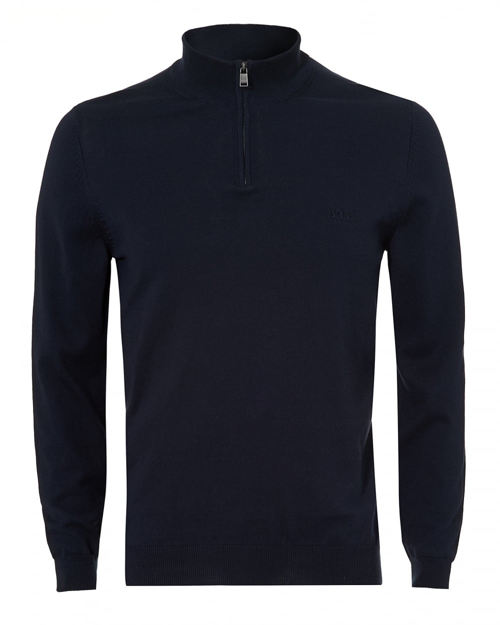 Glistening Green Navy Men Crew Neck&Nbsp Jumper Boss