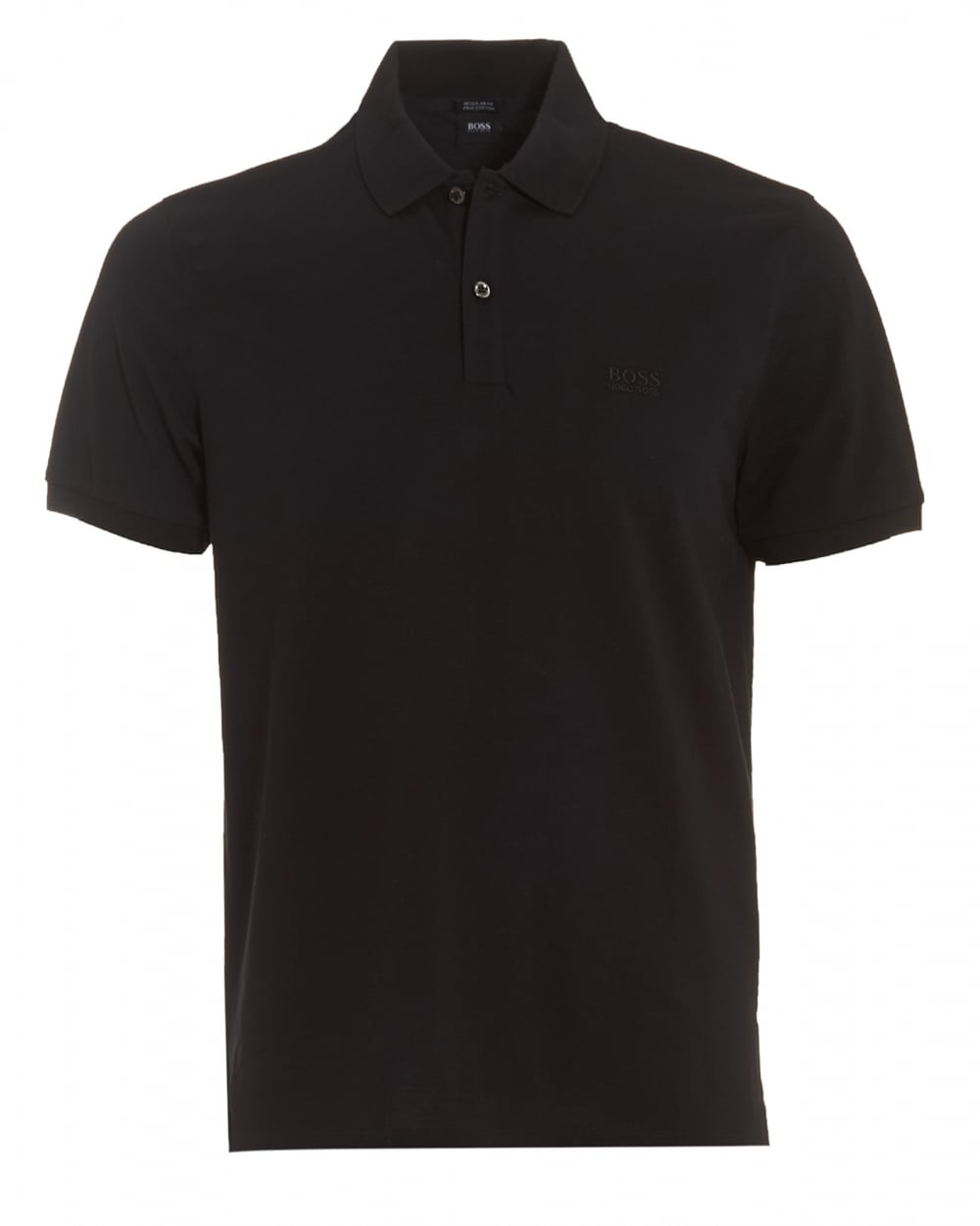 Hugo boss black mens pallas polo black regular fit plain for Men s regular fit shirts