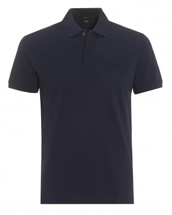 Mens Pallas Polo, French Navy Regular Fit Plain Polo Shirt