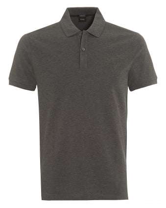 Mens Pallas Polo, Grey Regular Fit Plain Polo Shirt
