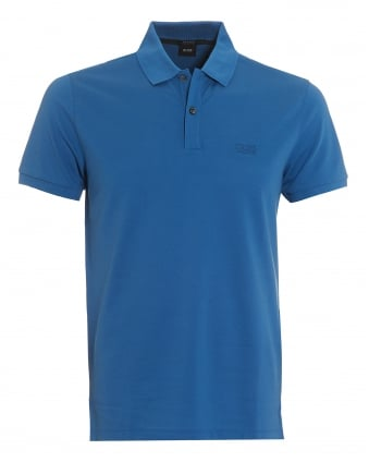 Mens Pallas Polo, Regatta Blue Regular Fit Plain Polo Shirt