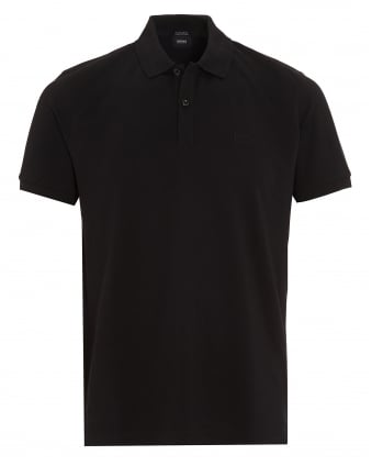 Mens Pallas Regular Fit Black Polo Shirt