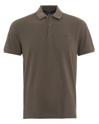 Mens Pallas Regular Fit Olive Green Polo Shirt