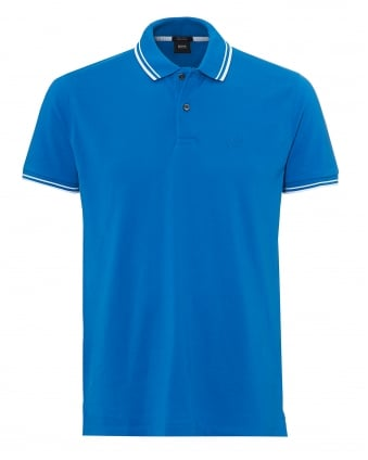Mens Parlay Polo, Tipped Blue Polo Shirt