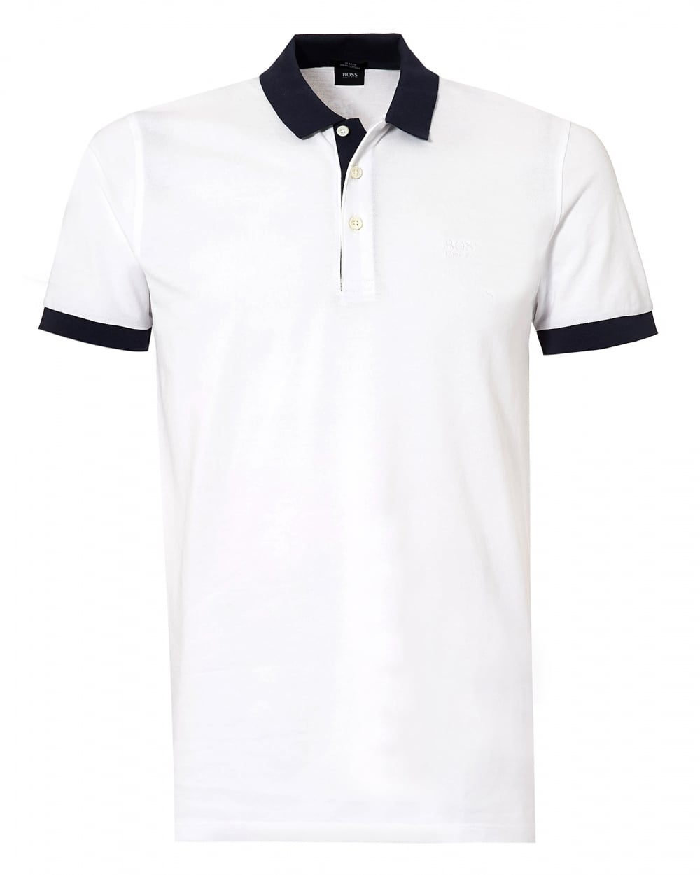 hugo boss black mens phillipson polo shirt white slim fit
