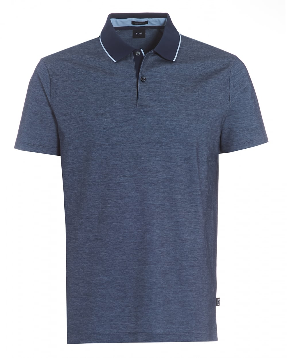Mens Piket 07 Polo, Regular Fit Two-Tone Navy Polo Shirt