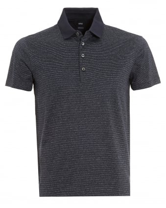 Mens Pitton 06 Polo, Fleck Regular Fit Navy Blue Polo Shirt