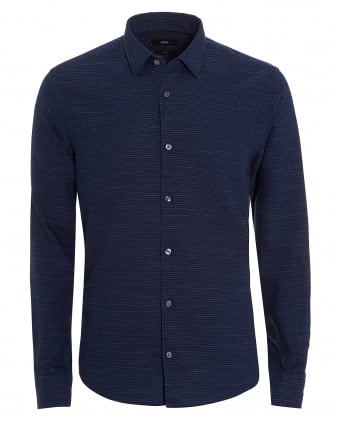 Mens Reid Shirt, Faded Stripe Navy Blue Shirt