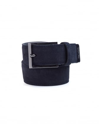 Mens Sefonio_Sz35_sdpl Navy Blue Suede Belt
