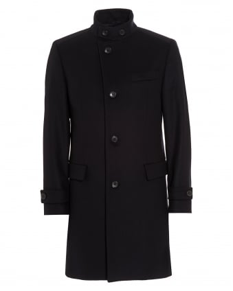 Mens Sintrax1 New-Wool Blend Navy Blue Coat