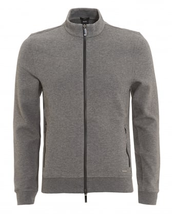 Mens Soule 06 Knit, Two Way Zip Slim Fit Grey Sweatshirt