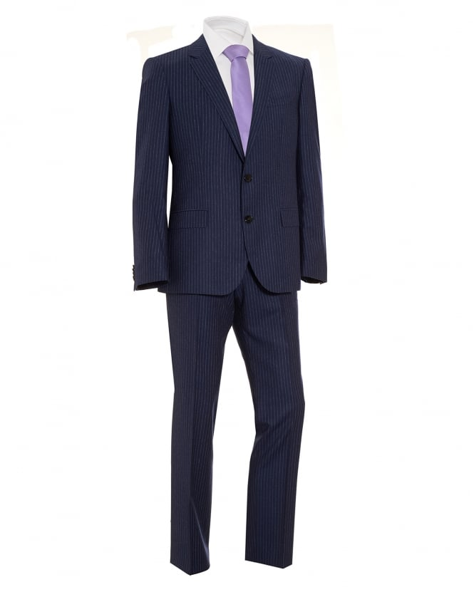 BOSS Business Mens Suit, C-Jeys1 C-Shaft1 Finely Striped Wool Navy Suit