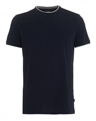 Mens Taber 04 T-Shirt, Navy Regular Fit Tee