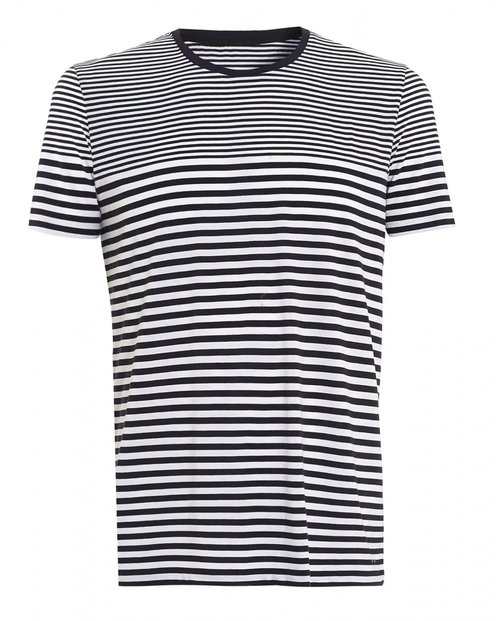 Hugo Boss Black Mens Tesser 49 Ws T Shirt Striped Navy