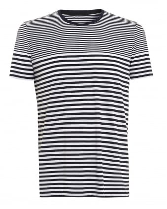 Mens Tesser 49-WS T-Shirt, Striped Navy White Tee