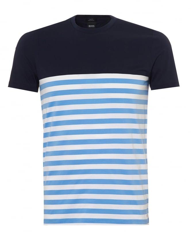 Hugo boss black mens tessler tshirt solid upper striped for Boss mens t shirts