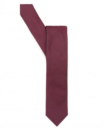 Mens Tie, Shadow Diamond Red Silk Tie
