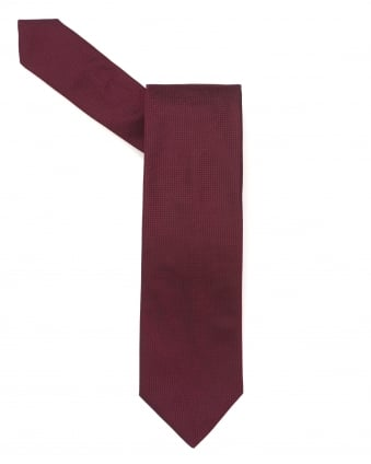 Mens Tie, Textured Plain Red Silk Tie
