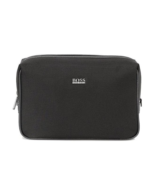 Hugo Boss Black Nemphis Black Water-Resistant Wash Bag