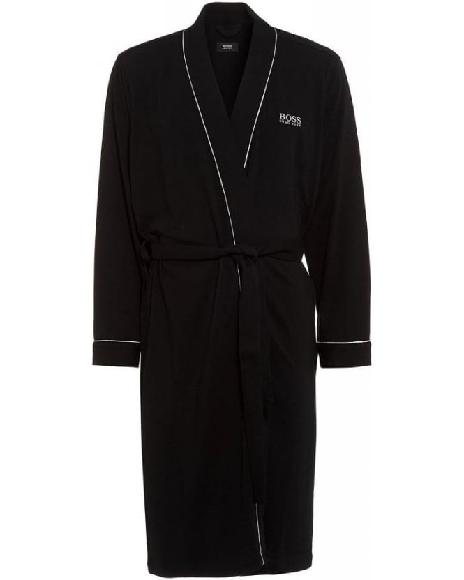 Hugo Boss Black Piped Detail Black Dressing Gown