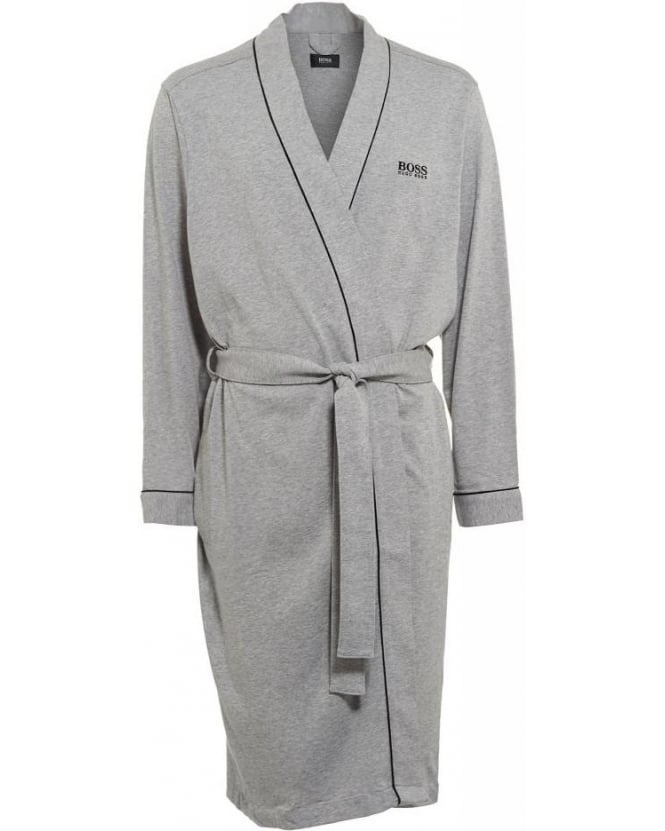 Hugo Boss Black Piped Detail Grey Dressing Gown