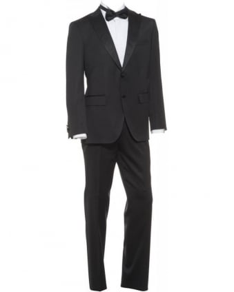 Suit Black Classic 'Jupiter Star' Regular Fit Dinner Suit
