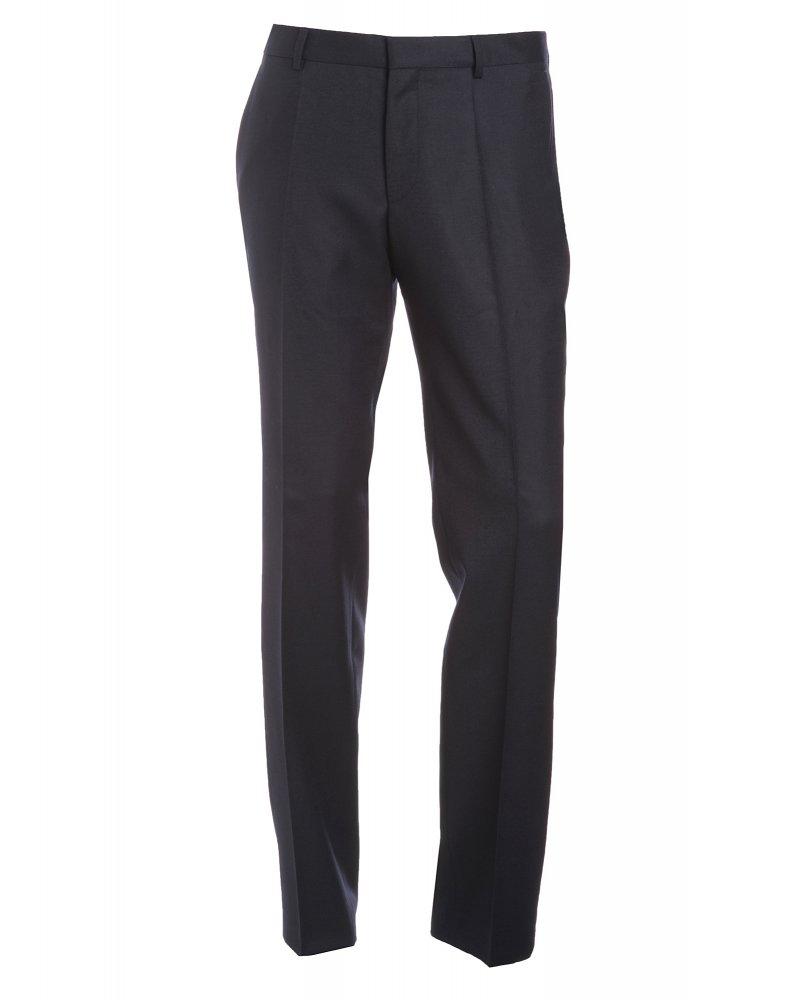 Trousers, Navy Blue Slim Fit Wool Business 'Genesis 2&#039