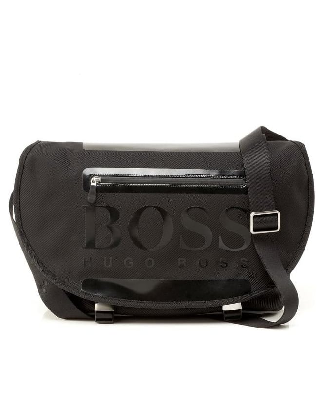 Hugo Boss Green Bag, Black 'Titto' Cycle Bag