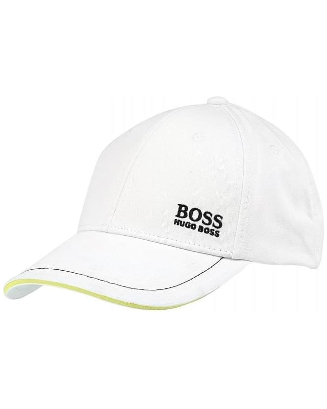 Hugo Boss Green Hat, White Contrast Logo Baseball Cap
